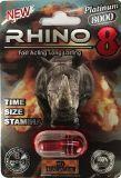 Rinoceronte 8000 pillole sessuali maschii + indennità del rinforzatore 8 di prestazione del platino!
