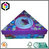 Rectángulo de empaquetado de papel del color del triángulo de la joyería brillante de la cartulina para la Navidad