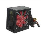 Esmalte de estufa Black Shell Real 400W Fonte de alimentação do PC com alimentação de comutação do ventilador vermelho