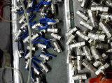 Robinet à tournant sphérique en laiton modifié de 3 voies avec Niakel plaqué (YD-1032)