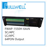 Solution de fibre optique Fwap-1550h-64X19 de WDM CATV EDFA de Pon