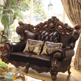 Sofa classique de tissu réglé pour les meubles de salle de séjour (531A)