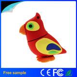 Oiseau animal fait sur commande Pendrive 4GB de dessin animé de silicones de cadeau de promotion