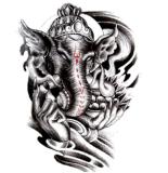 Tatuaje temporal del tatuaje del arte del tatuaje del elefante indio de la moda