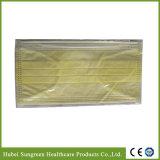 Maschera di protezione non tessuta gialla con legare