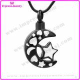 Juwelen van de Herinnering van de As van de Halsband van het Roestvrij staal van de Tegenhanger van de Urn van de Crematie van de ster en van de Maan de Herdenkings (IJD9771)