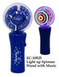 Grappig Licht op het Toverstokje van de Spinner met het Stuk speelgoed van de Muziek