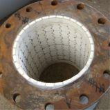 92% de alúmina de cerámica blanca de tubos de acero forrado