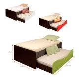 Jogos de madeira da mobília do quarto da base do carrinho da noite do Wardrobe (HX-DR064)
