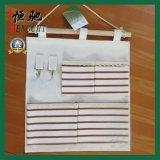 100% algodón lienzo colgante organizador bolsa de almacenamiento con múltiples bolsillos