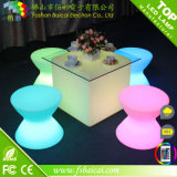 Cadeira clara do diodo emissor de luz do desenhador acrílico moderno