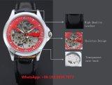 Reloj de los hombres automáticos especiales excelentes con la correa de cuero genuina Fs597