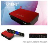 A caixa da tevê suporta o ponto quente que compartilha através do leitor de cartão do Wi-Fi SD/MMC