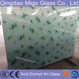 l'acido decorativo di 5mm ha inciso il vetro di arte con il formato 1830*2440mm