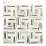 Het Mozaïek van het Gebrandschilderd glas van de Tegels van de Grens van de Muur van de badkamers met de Prijs van de Fabriek