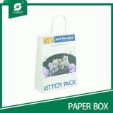 Sac blanc de papier d'emballage avec le logo estampé pour des achats