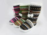 Новым славным теплым ботинки зимы связанные снежком для девушок Wonmen
