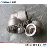 Duples acero inoxidable zócalo de soldadura 45 ° 90 ° Elbow A182 (S31803, S32750)