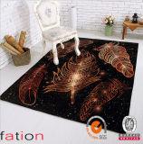 スリップ防止現代屋内屋外領域敷物OEMの普及したシャギーな印刷のカーペット