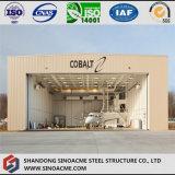 Estructura de acero ligero marco de chasis hangar de aeronaves para helicóptero