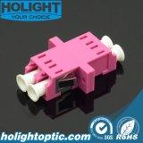 LC al tipo rosado a dos caras de la impresión del pie del Sc del adaptador Om4 del LC