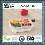 Il commercio all'ingrosso si ispessisce toglie il contenitore di alimento di plastica a gettare del singolo scompartimento