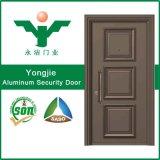 Puerta exterior de la seguridad de la puerta de aluminio europea del diseño