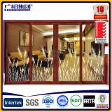 Doppi portelli scorrevoli di legno di alluminio di vetro con costruito in lamierine