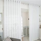 Cortina completa do Voile contínuo de linho do algodão do quarto