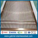 Tabique plegable del metal del panel del acero inoxidable 201