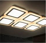Luz cristalina elegante de la iluminación de techo del cuadrado LED para la cubierta decorativa