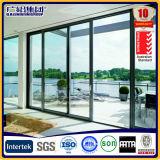 Porte verticale de glissement et de levage d'aluminium de configuration d'ouverture de bâti d'alliage d'aluminium