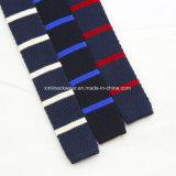 Lazo rayado del Knit de las lanas de la manera de la escritura de la etiqueta privada para los hombres