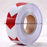 PVC 고품질 백색 & 빨강 경고 화살 사려깊은 테이프 (C3500-AW)