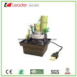Het USB Geladen Beeldje van het Bamboe van de Fontein van het Water Polyresin voor de Decoratie van de Lijst