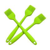 Escova 100% resistente ao calor do silicone da grade Brush/BBQ do silicone do silicone Non-Stick do produto comestível de cor verde do silicone