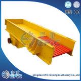 Alimentador minero del canal inclinado del mineral del oro de la máquina de proceso