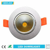 A ESPIGA Downlight 5W do diodo emissor de luz de Dimmable refrigera a prata de alumínio branca da areia