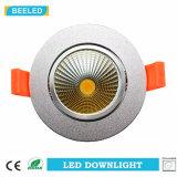 Dimmable LED 옥수수 속 Downlight 5W는 백색 알루미늄 모래 은을 냉각한다