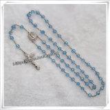 Multi покрашенный цветом Rosary поливы с серебряными иконой Mary Saint цвета и деталем креста: Io-Cr081