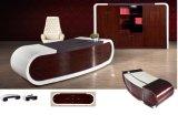 白いLacqureの塗る執行部の机の現代オフィス用家具(HX-RD6511)