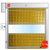 耐久の鉄骨フレーム高速PVCローラーシャッタードア