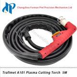 Tocha de soldadura portátil 5m do plasma de Trafimet A101 com conetor central
