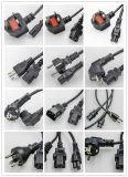 Euro de 4-afzet van de Kabel 3G1.5mm2 van de Kabel h05vv-F van de Stop VDE van Schuko van de Spoel van de Kabel van het Ijzer van de Spoel van de Kabel Euro Contactdozen 25/50m