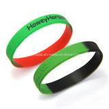 Wristband em mudança do silicone da cor feita sob encomenda barata maioria