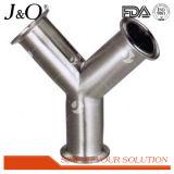 Conexão sanitária de tubo de solda cruzada de aço inoxidável