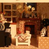 des Puzzlespiel-3D hölzernes Spielzeug Puppe-des Haus-DIY