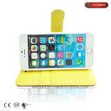 PU iPhone를 위한 가죽 2절판 덮개 물방울 무늬 전화 상자