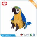 Het Stuk speelgoed van de pluche met Stuk speelgoed van de Vogel van de Rammelaar het Zachte Kleurrijke Gevulde