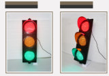 多炭酸塩の赤い黄色緑300mmの交通信号ライト